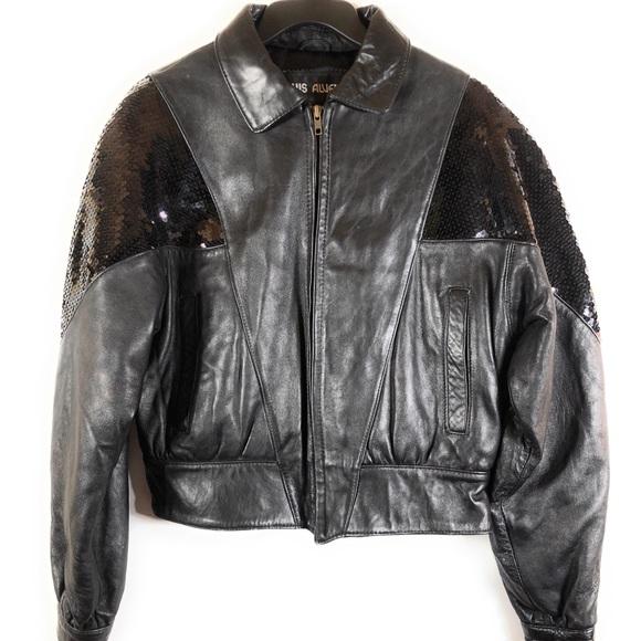 Luis Alvear Jackets & Blazers - Luis Alvear Leather Jacket With Sequins